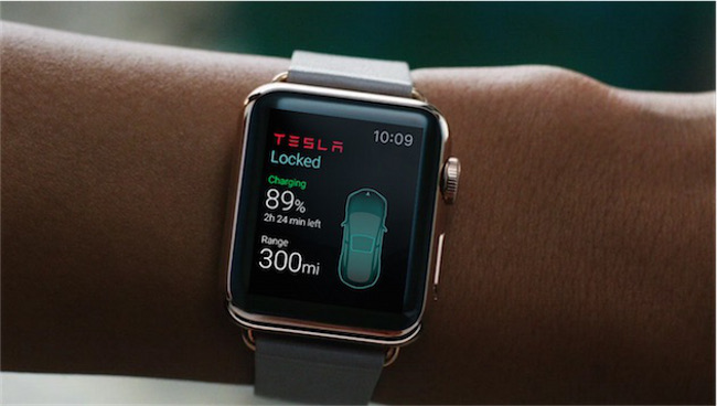 Une application Apple Watch pour les voitures Tesla Une application Apple Watch pour les voitures Tesla