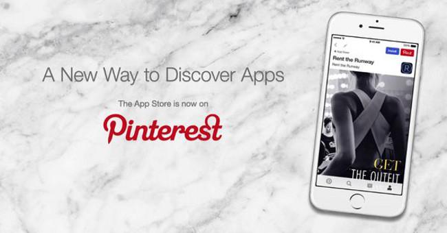 apple Pinterest app store Apple et Pinterest sassocient pour dénicher les best applis