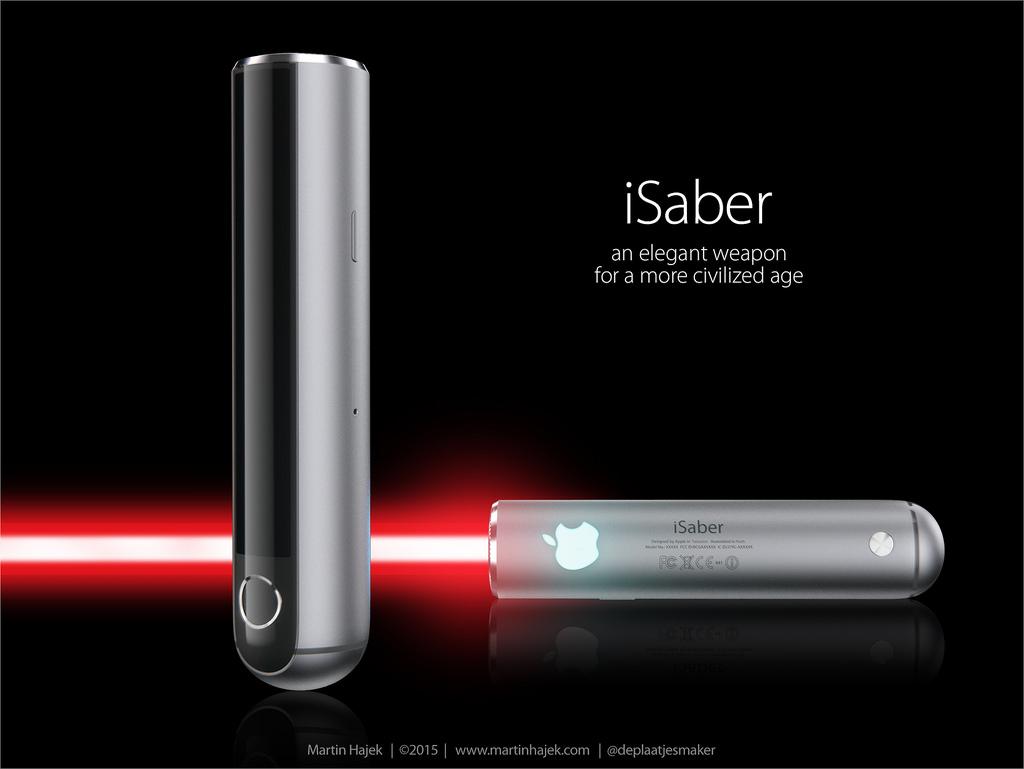 iSaber sabre laser d Apple 001 Découvrez liSaber: le sabre laser dApple selon Hajek