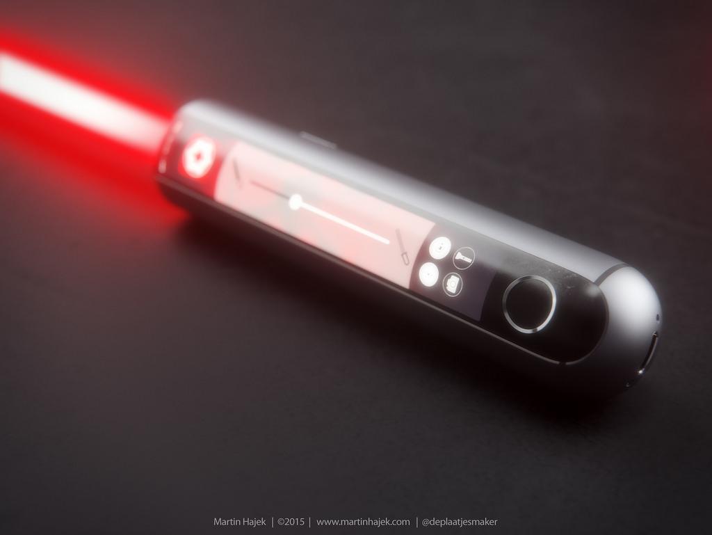 iSaber sabre laser d Apple 002 Découvrez liSaber: le sabre laser dApple selon Hajek