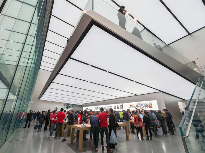 img1 Découvrez lApple Store dHangzhou à létage flottant