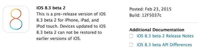 ios 8 3 beta 2 800x210 iOS 8.3 bêta 2 disponible pour les développeurs
