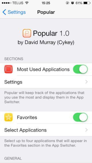 popular2 320x568 [Cydia] Popular : vos apps favorites en raccourcis dans le multitâche