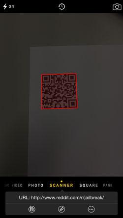 url 1 [Cydia] QR Mode, scannez les QR codes depuis lapplication native Appareil Photo