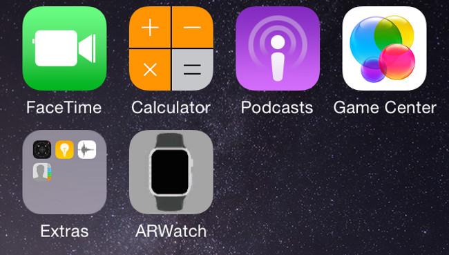 ARWatch app Voici comment simuler lApple Watch sur votre poignet