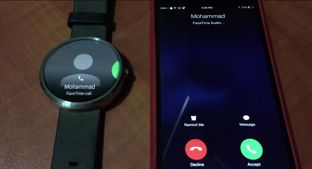 Android Wear iOS Le code dAndroid Wear abrite des traces diOS
