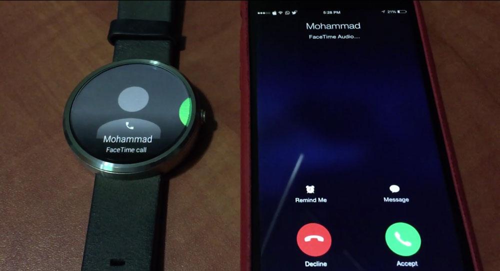 Android Wear iOS Un développeur rend compatible les montres Android Wear avec iOS 8