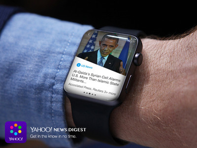 Apple Watch Yahoo Digest 002 Un partenariat Apple/Yahoo pour proposer les news sur lApple Watch ?