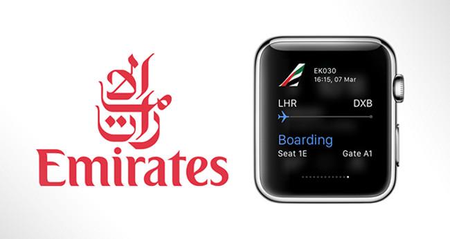 Apple watch app Emirates Airlines 001 Apple Watch: La compagnie aérienne Emirates aura son appli