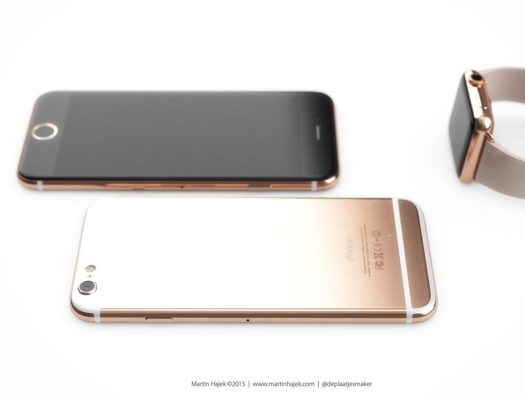 concept iphone 6S apple watch Martin Hajek 002 Concept: quand liPhone 6S sinspire de lApple Watch Edition