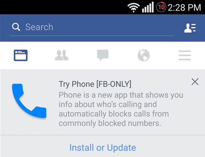 facebook phone 002 Facebook préparerait une appli de téléphone baptisée Phone