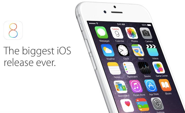 iOS 8 atteint les 75 pour cent iOS 8 atteint désormais 85% dadoption
