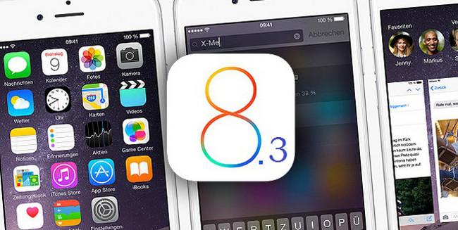 iOS 8.3 beta publique iOS 8.3 bêta 4 est disponible