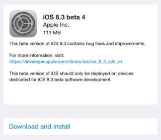 ios83beta4 320x278 iOS 8.3 bêta 4 est disponible