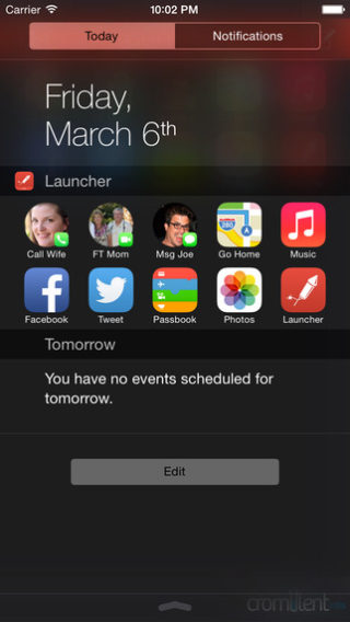 Apple accepte de nouveau les lanceurs dapplications comme widget