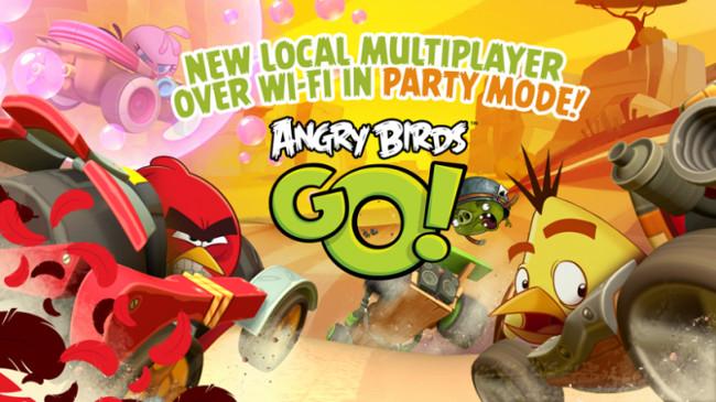 Angry Birds Go multi joueurs 130 Millions de téléchargements et un mode multi joueurs en Wi Fi pour Angry Birds Go