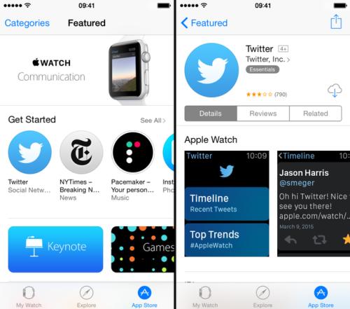 Apple Watch App Store1 1024x902 500x441 Apple lance lApple Watch App Store [VIDEO]