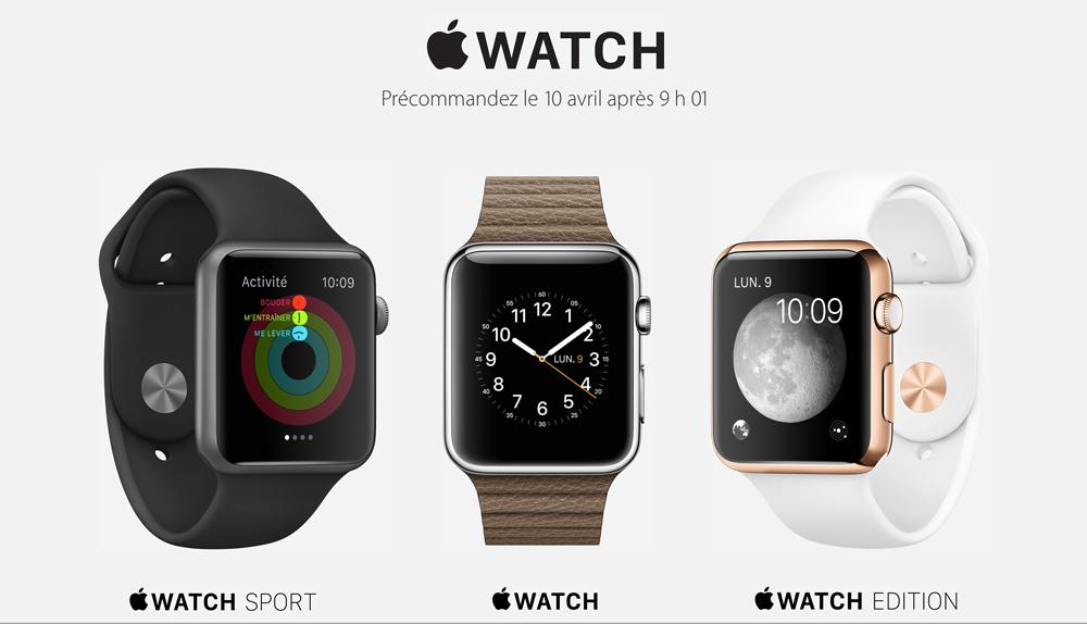 Apple Watch Precommande Apple nous donne lheure douverture des précommandes de lApple Watch