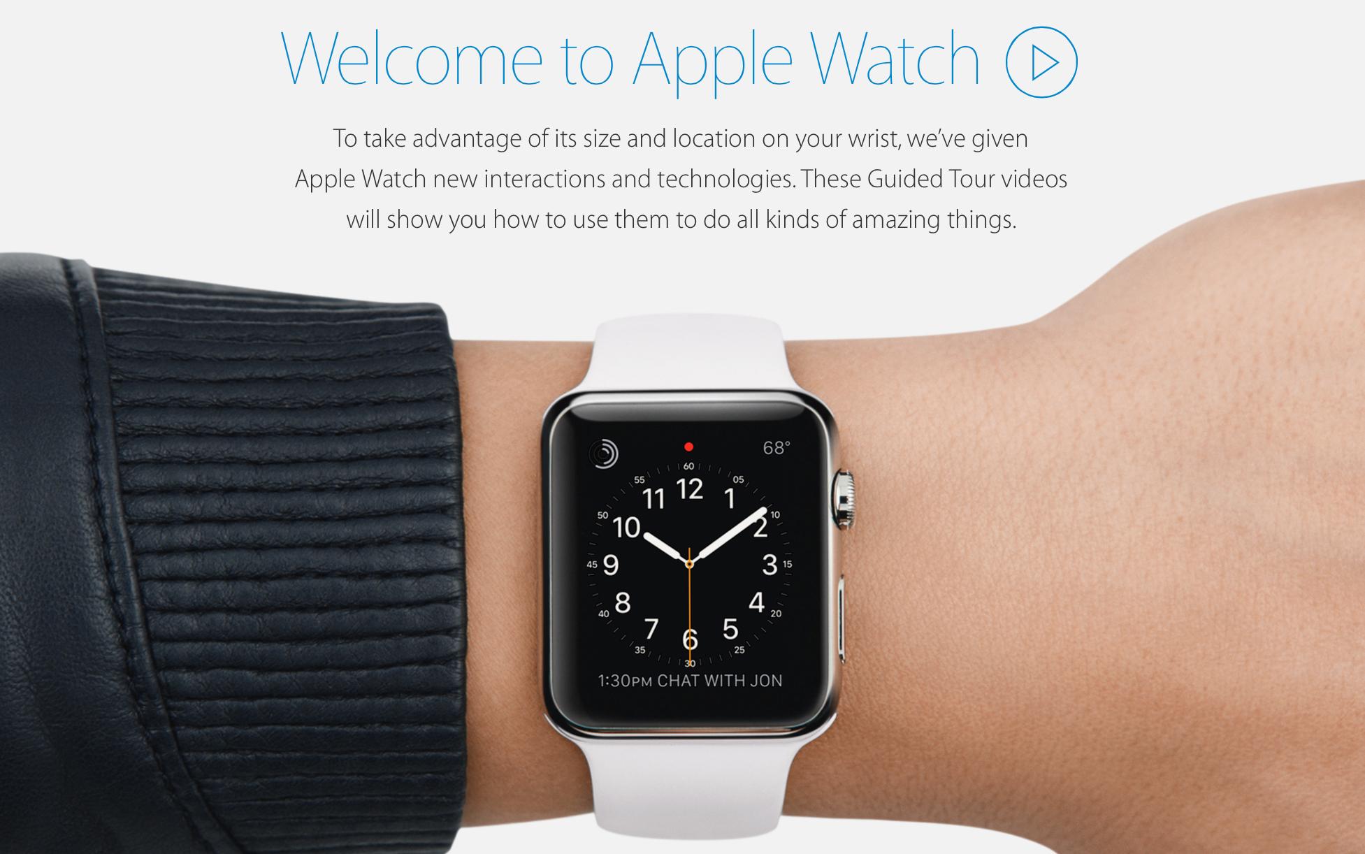 Apple Watch Tours Apple nous apprend à utiliser lApple Watch en vidéo