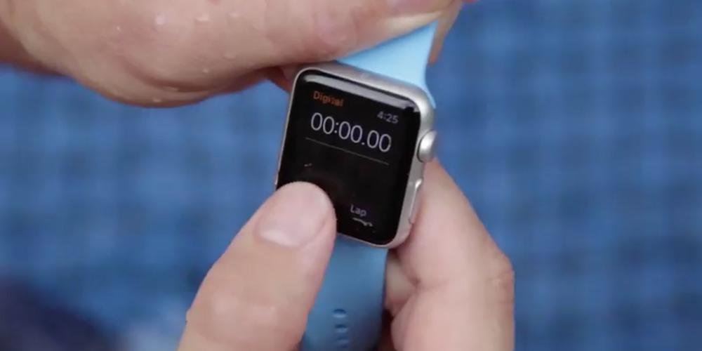 Apple Watch Water LApple Watch plus résistante à leau que prévu !