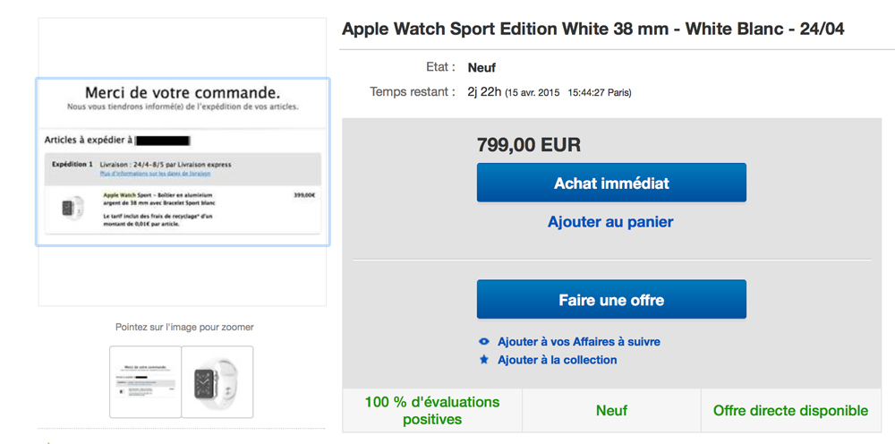 Apple Watch eBay Les prix de lApple Watch senvolent sur eBay