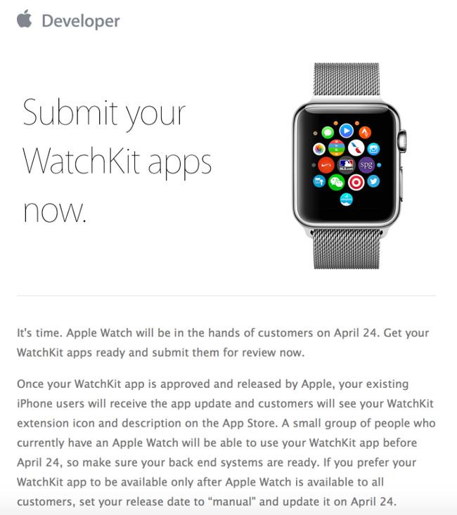 Apple watch apps 002 Apple ouvre la porte à toutes les apps Apple Watch