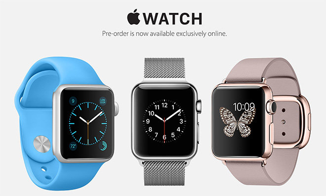 Apple Watch precommandes Les précommandes de lApple Watch ont débuté avec des stocks limités