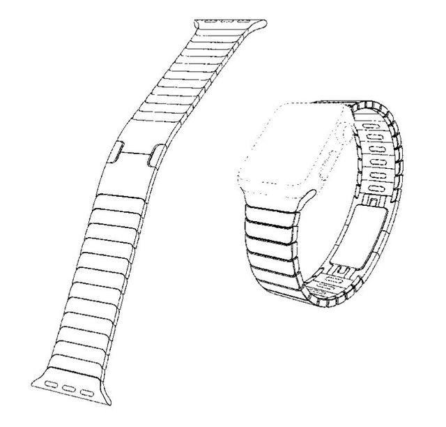 Screen Shot 2015 04 21 at 11.55.22 AM Bracelets Apple Watch : Il y a un brevet pour ça