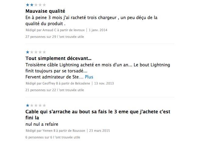 apple comments cable Le câble Lightning iPhone jugé trop fragile par les utilisateurs