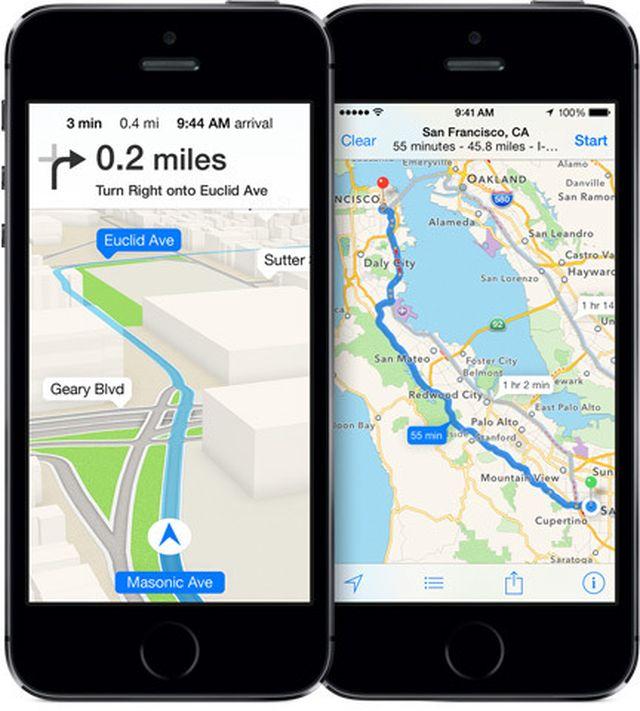 apple maps ios 7 navigation1 Nokia pourrait vendre son service HERE Maps à Apple