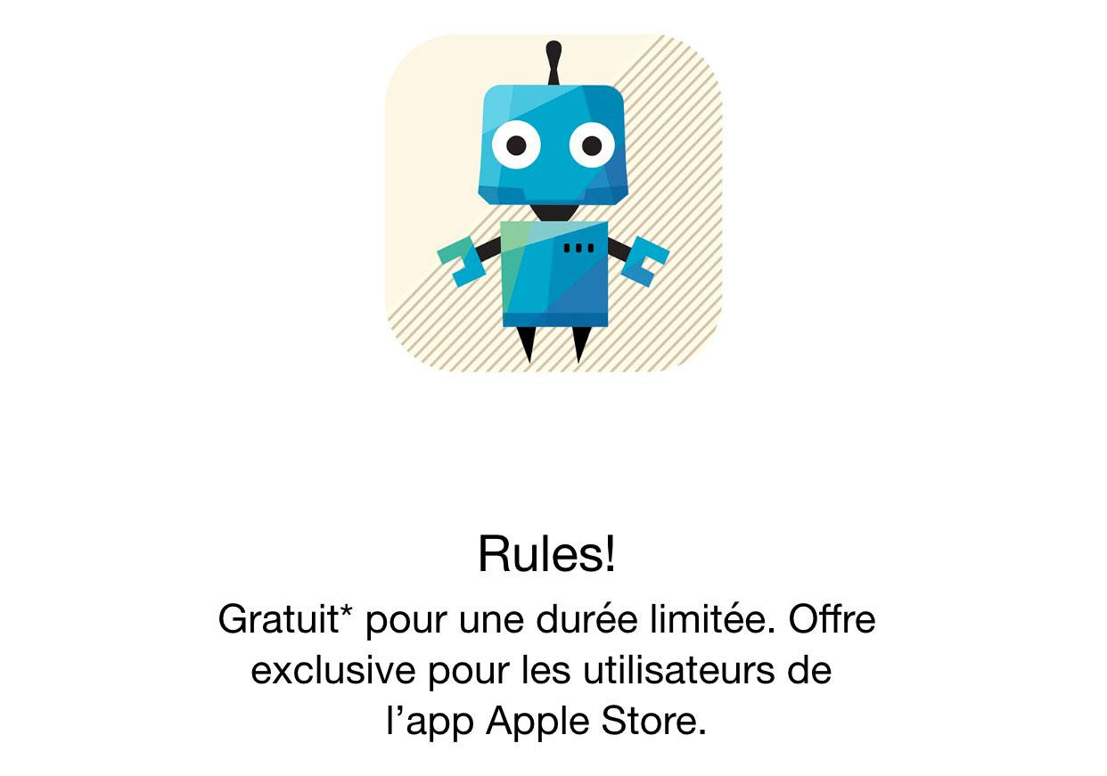 rules apple store Apple offre gratuitement le jeu Rules!