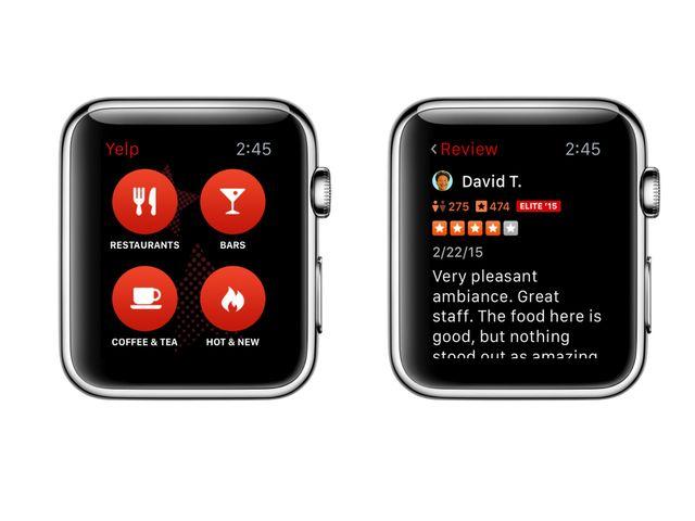 yelp apple watch Yelp sinvite sur Apple Watch