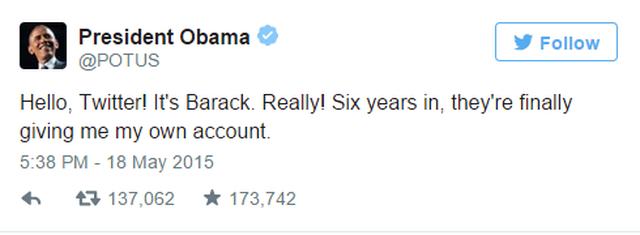 Capture3 Barack Obama inaugure son nouvel iPhone avec son premier Tweet