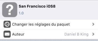 Cydia San Francisco iOS8 320x136 [Cydia] Installer San Francisco, la police iOS 9 sur iOS 8
