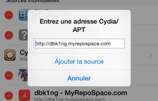 Cydia source ajout 320x205 [Cydia] Installer San Francisco, la police iOS 9 sur iOS 8