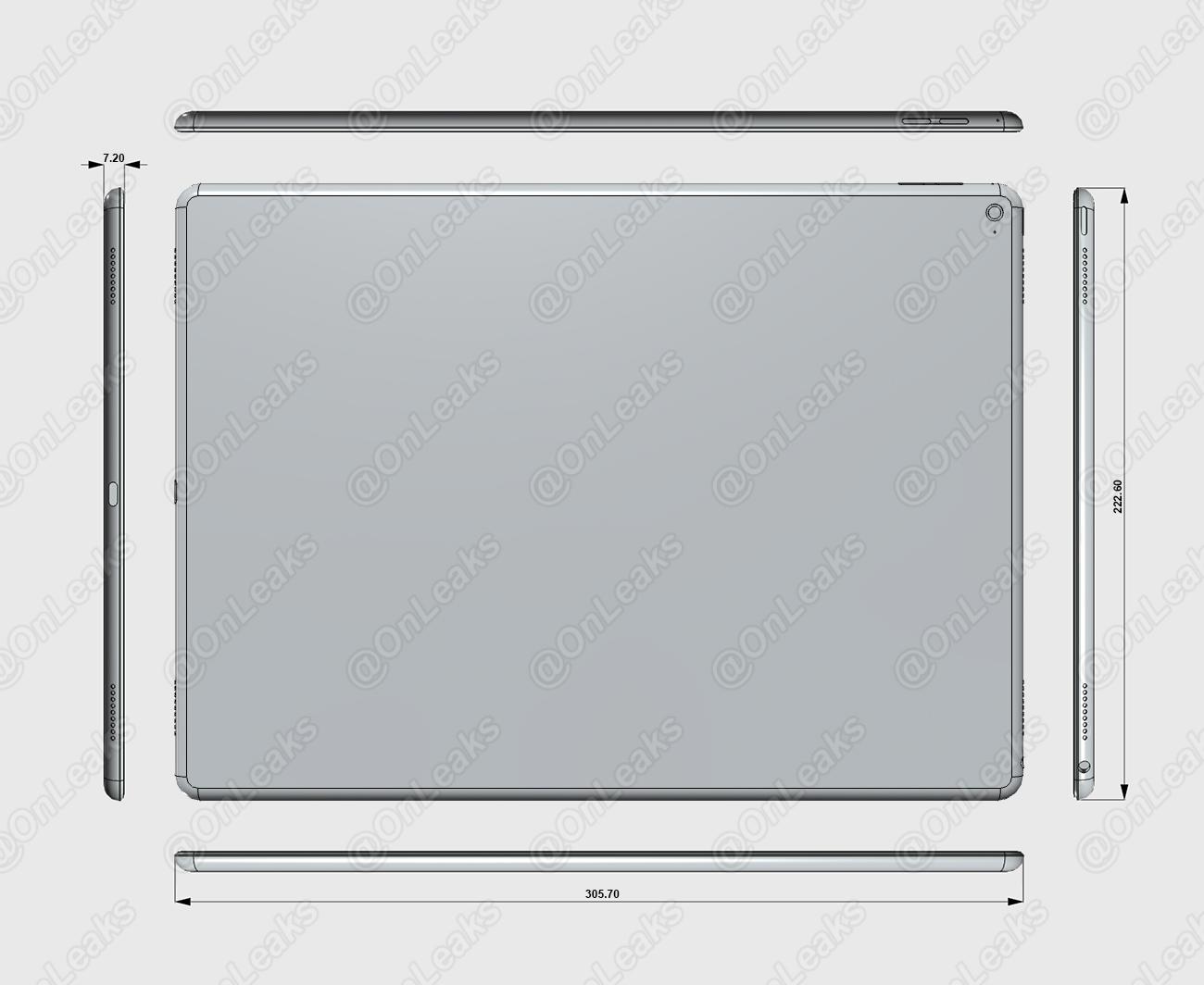 Dimensions iPad Pro Air Plus Les dimensions de liPad Pro confirmées par un nouveau schéma ?