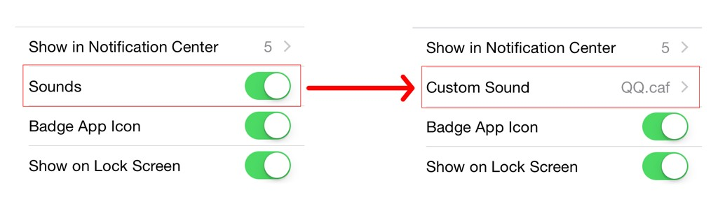 customnotificationsound1 [Cydia] CustomNotificationSound : personnalisez le son de toutes les notifications