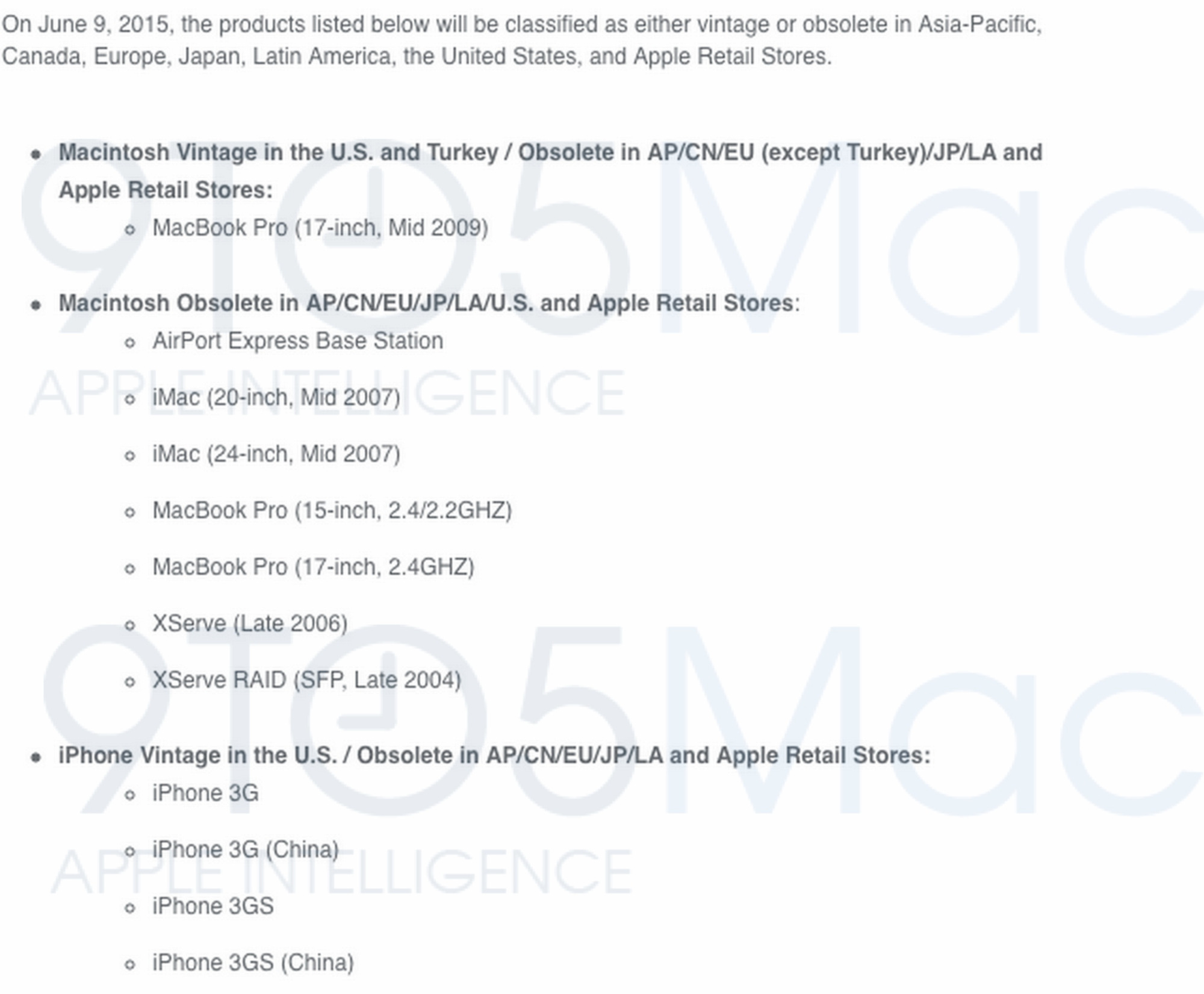 no repair for you obsolete iphone mac En juin, plusieurs produits Apple deviendront obsolètes !