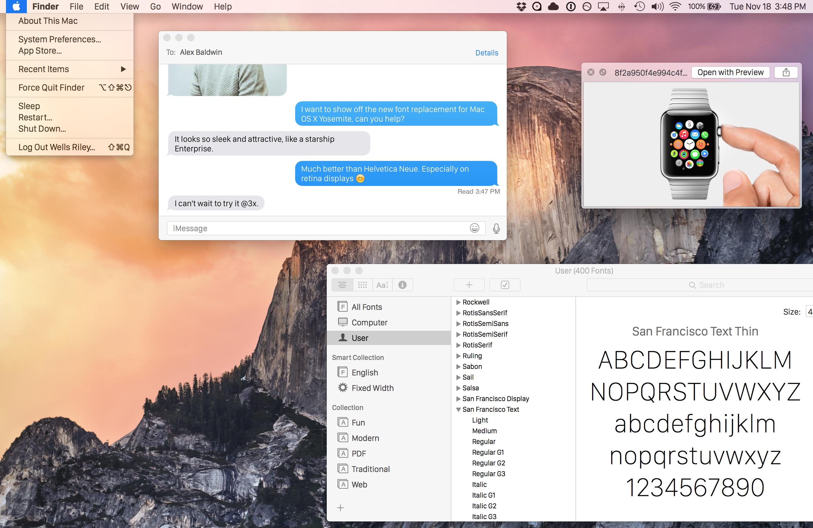 osx10 11 [TUTO] Utiliser la police de liOS 9 et dOSX 10.11 avant lheure sur votre mac