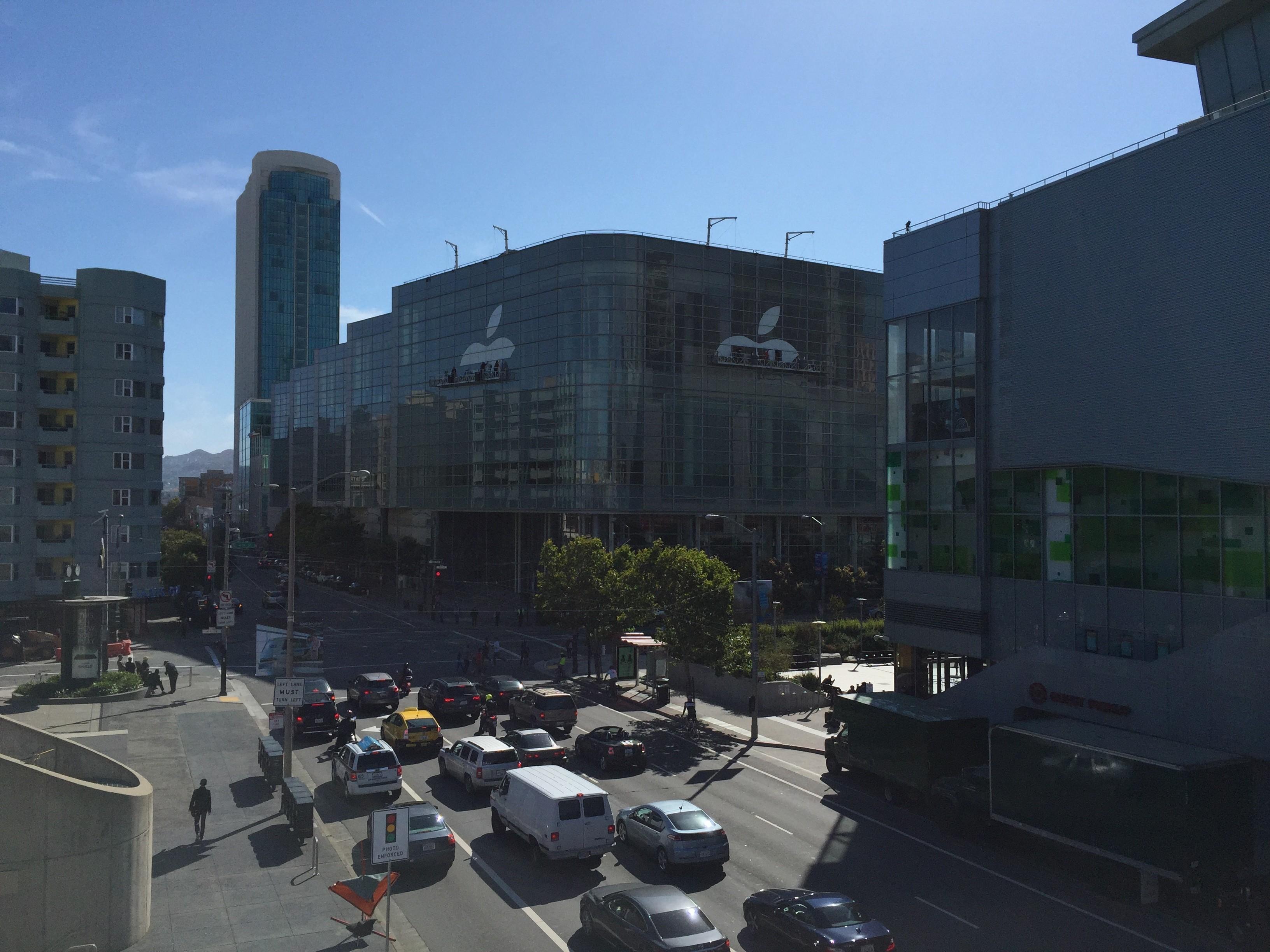 Le Moscone Center commence à shabiller pour la WWDC 2015