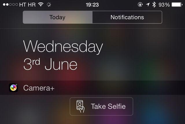 Camera Plus for iPhone selfie widget button Camera+ se met à jour pour lApple Watch... Et les selfies