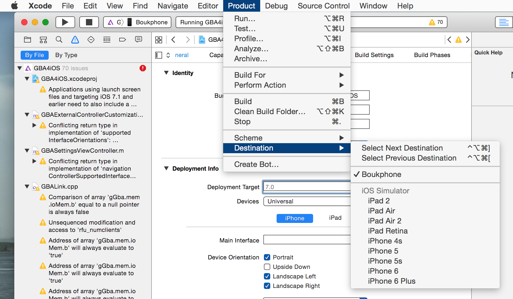 GBA4iOS.xcodeproj 2015 06 08 18 04 58 Apple autorise la création dapplications sans compte développeur payant !