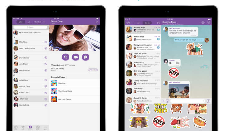 Viber 5.4.1 for iOS iPad screenshot 002 App Store : Viber 5.4.1 disponible en version finale sur iPad