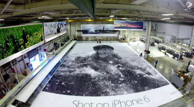 campagne La campagne publicitaire Photographié avec liPhone 6 primée à Cannes !