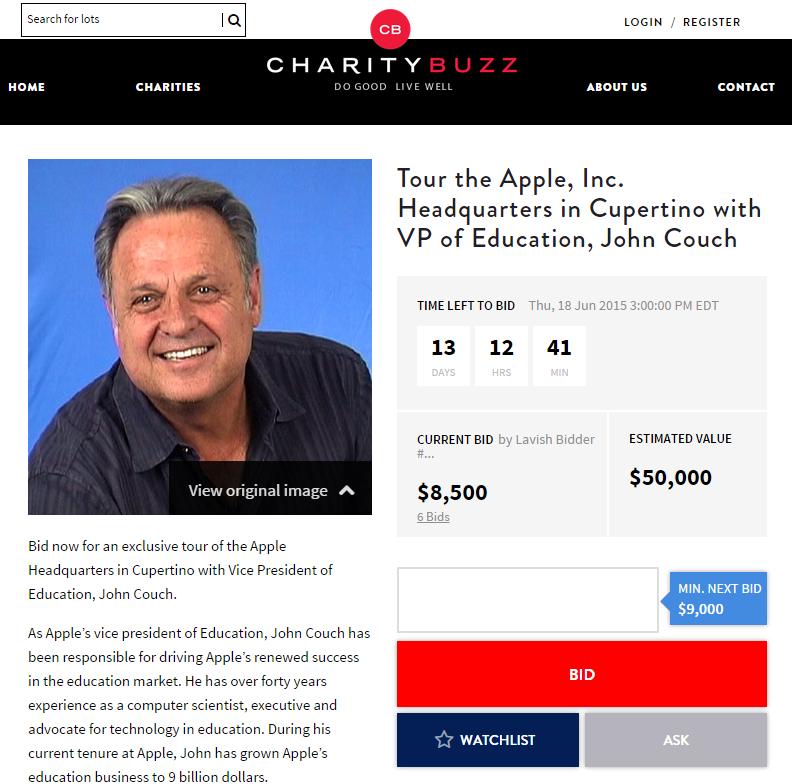 enchere Une visite guidée du futur campus dApple vous coûtera... 50 000 dollars