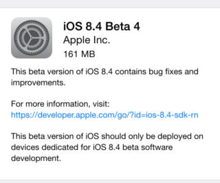 iOS 8.4 beta 4 320x266 iOS 8.4 bêta 4 est disponible pour les développeurs