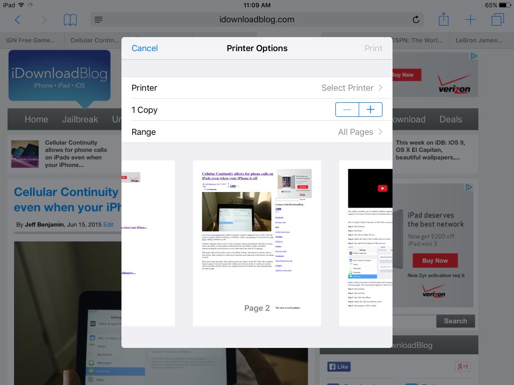 iOS 9 Print Preview 1024x768 iOS 9 embarque une fonction daperçu avant impression