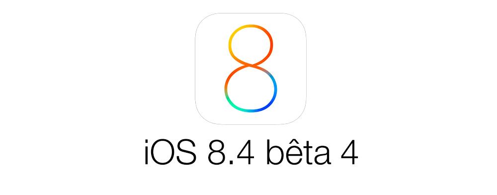 ios 8 4 beta 4 iOS 8.4 bêta 4 est disponible pour les développeurs