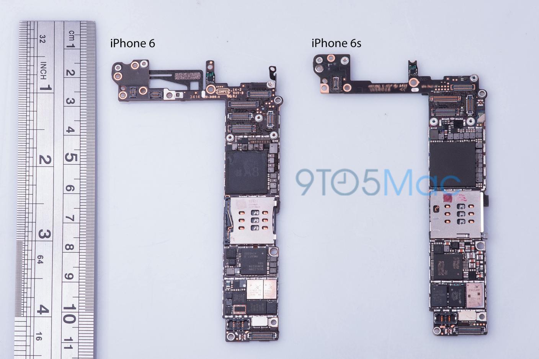9to56sboard La carte mère de liPhone 6S se dévoile !