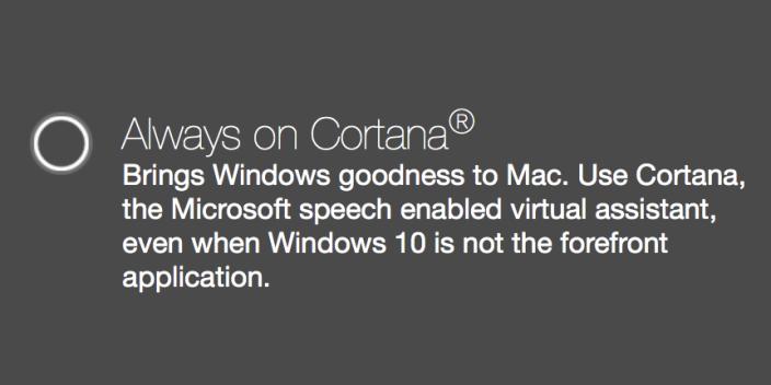 Cortana Mac Parrallels Desktop Windows 10 : Cortana arrive aussi sur Mac